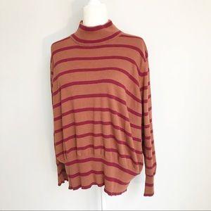 ee1f0d48b87 Melissa McCarthy Seven7 Sweaters - MELISSA MCCARTHY SEVEN7 Striped  Turtleneck Sweater